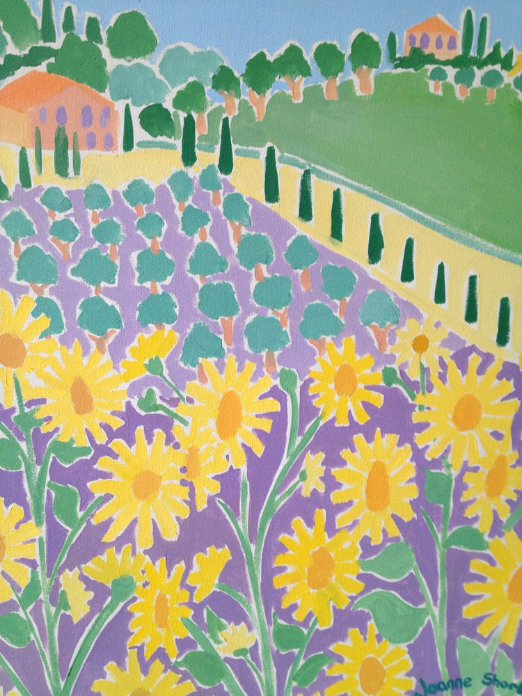 Sunflowers and Olives, Italy. Girasoli e Olive, Panicale. Original Painting by Joanne Short
