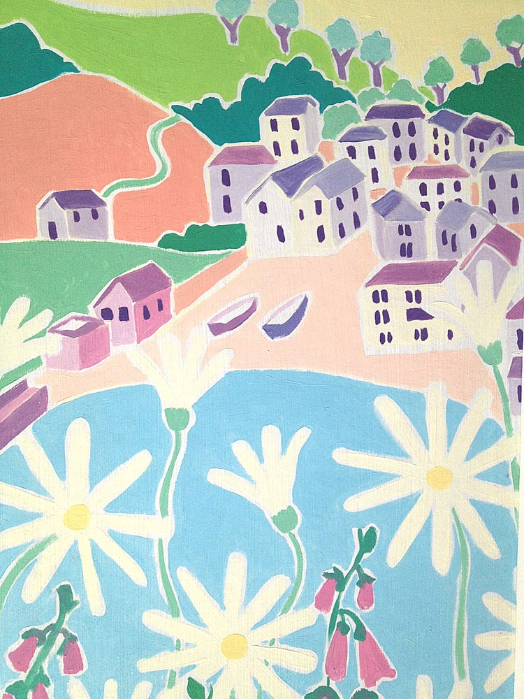 Original Painting by Joanne Short. Springtime Portloe, Cornwall.