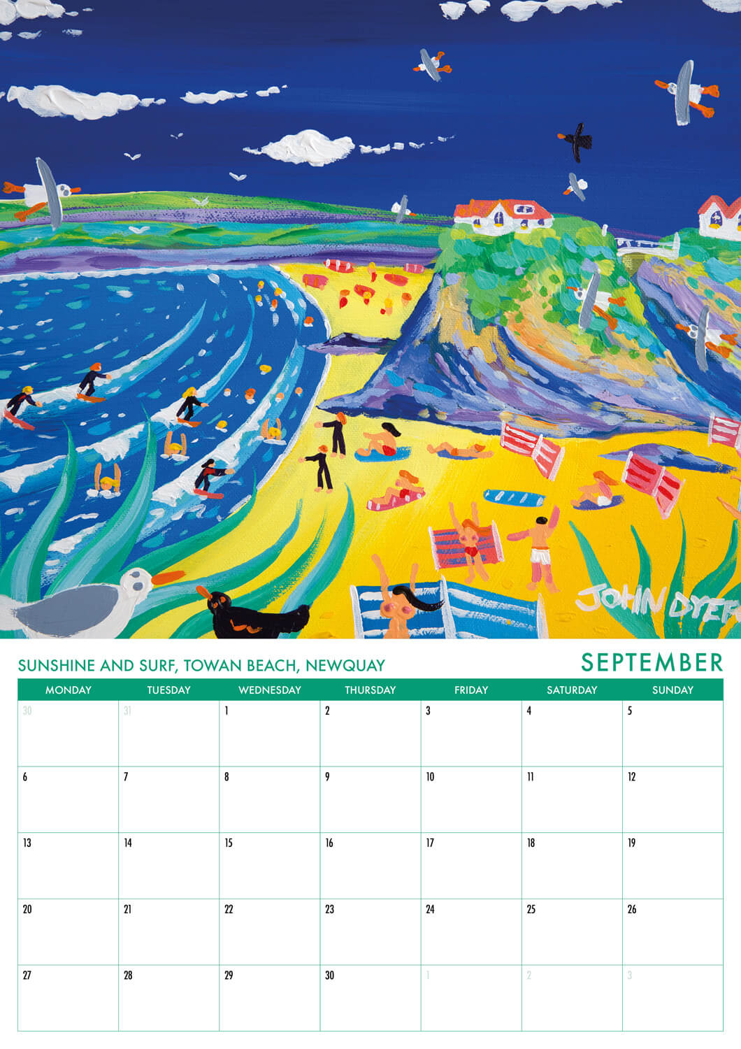 2021 Calendar of Cornwall by Cornish artist John Dyer