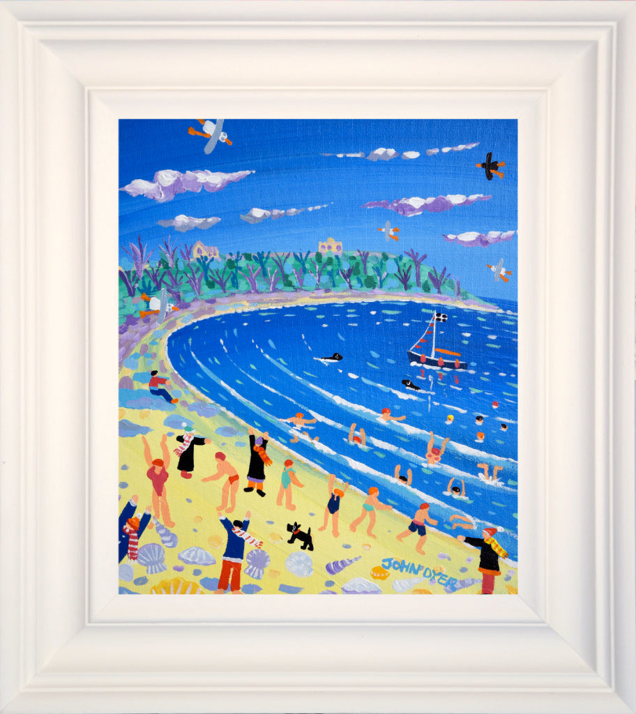 John Dyer Painting. Cold Water Swimmers, Falmouth. 