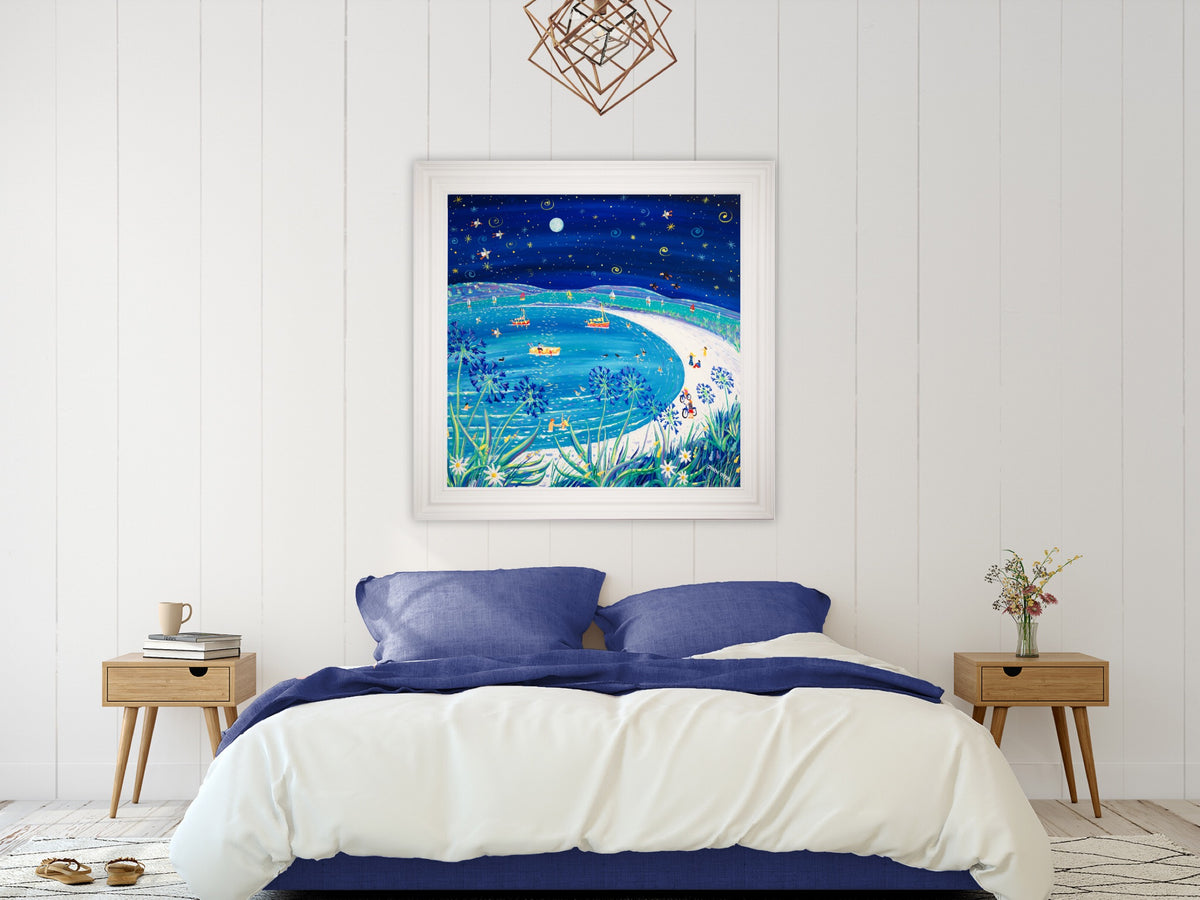 Original Painting by John Dyer. Full Moon over Pentle Bay, Tresco. 