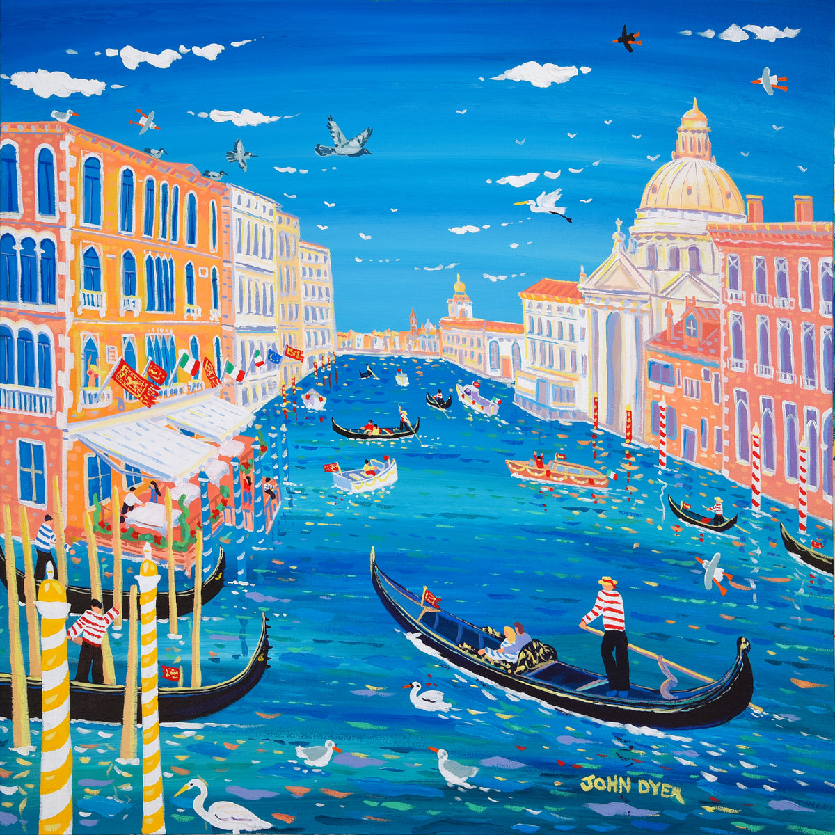 John Dyer Painting. Love on the Water, Venice. 