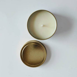 Peppermint Eucalyptus 4 oz Gold Tin Candle