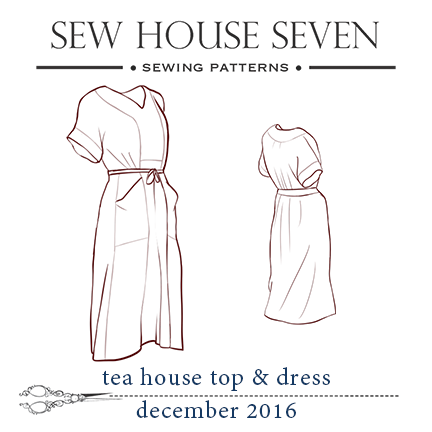 Tea House Top Dress Pattern And Fabric Preparation Sew House Seven