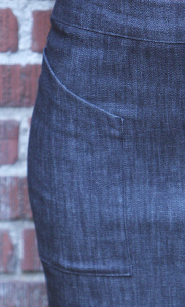 Alberta Street Pencil Skirt close up of pocket