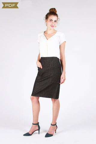 The Alberta Street Pencil Skirt Sewing Pattern    (pdf Pattern)