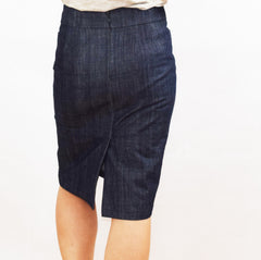 Alberta Street Pencil Skirt denim back view