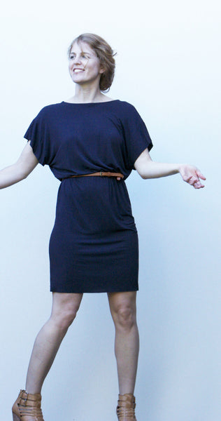Bridgetown Backless Dress in knit - front view 2