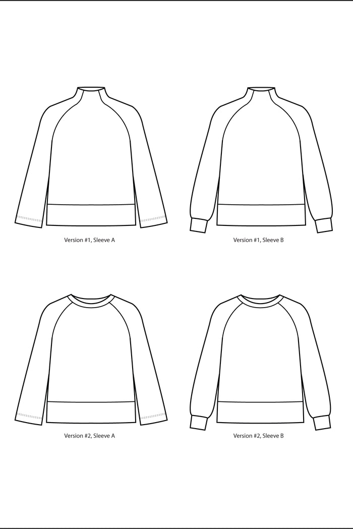 The Cosmos Sweatshirt - Curvy Fit (PDF Sewing Pattern)