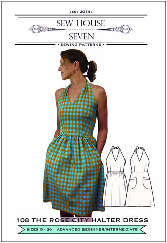 The Rose City Halter Dress (Paper Pattern)