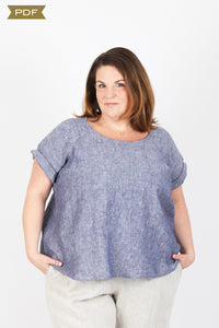 The Remy Raglan Top - Curvy Fit (PDF Pattern)