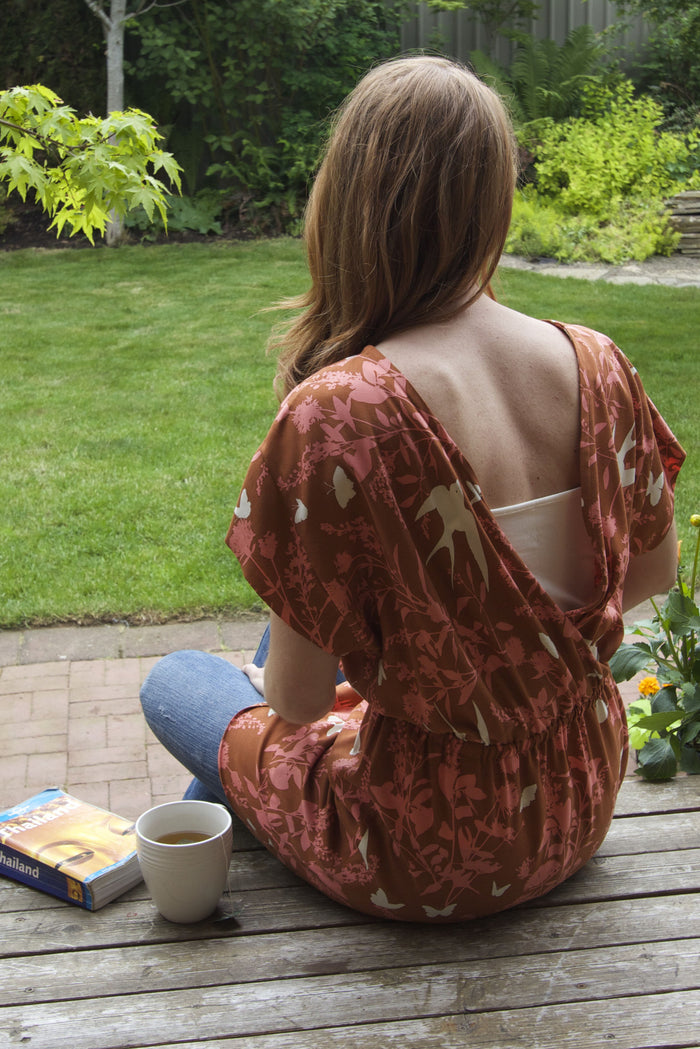 Bridgetown Backless Tunic with camisole - back view