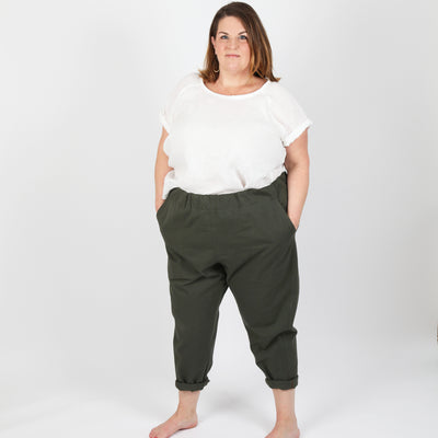 Free-Range Slacks CURVY Sizes 18 - 34 (Paper Pattern)