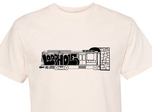 Loophole 'Jam Looptrain' T-shirt - Natural
