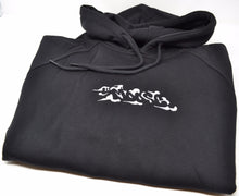 Load image into Gallery viewer, Moose Raglan Pullover Hoodie - Black