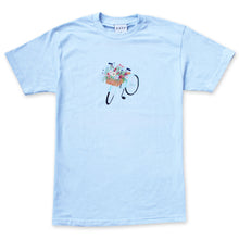 Load image into Gallery viewer, Cafe 'Flower Basket' T-shirt - Powder Blue
