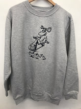 Load image into Gallery viewer, Moose Blaze Crewneck - Grey / Black