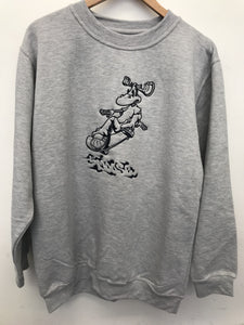 Moose Blaze Crewneck - Grey / Black
