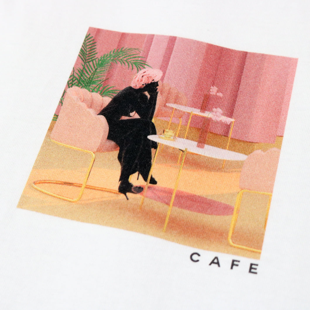 Cafe 'Unexpected Beauty' T-shirt - White