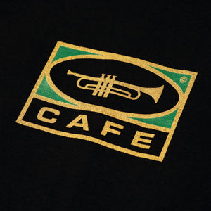 Cafe 'Trumpet Logo' T-shirt - Black