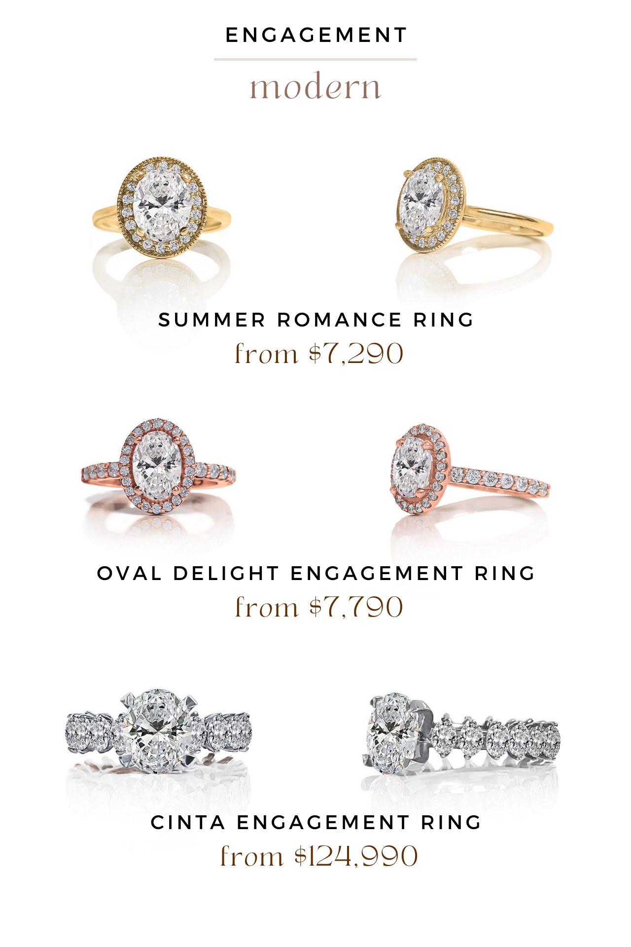 summer romance ring, oval delight engagement ring, cinta engagement ring