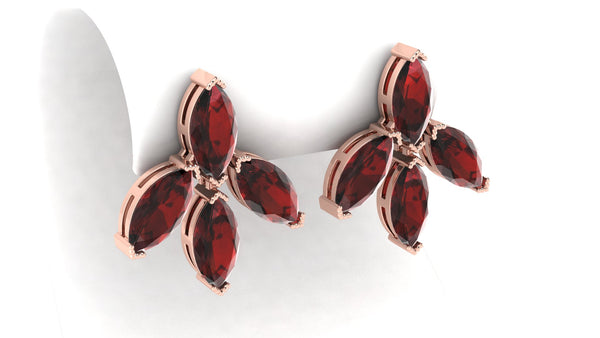 ALMANDINE FLOWER Earrings