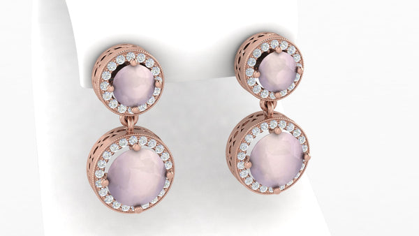 Amal Rose Quartz Earrings