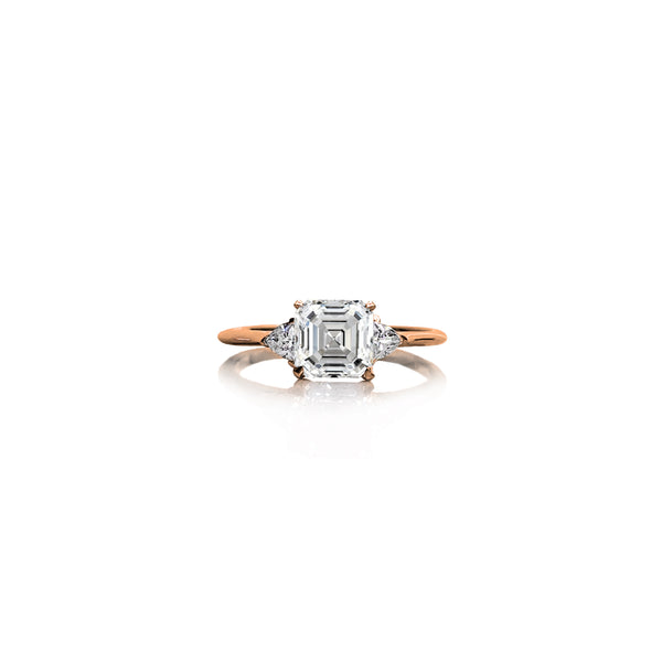 Asscher Trilliant Ring