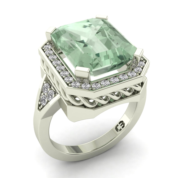 Mint Emerald Night Ring