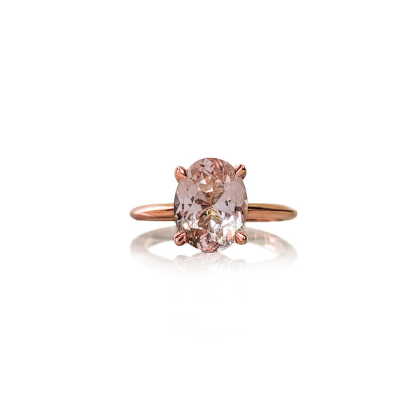 Morganite Oval Elegance Ring