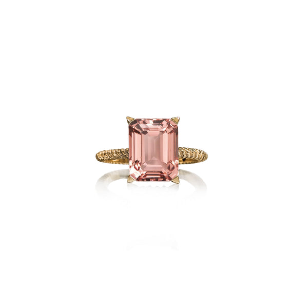 Morganite Perlina Engagement Ring