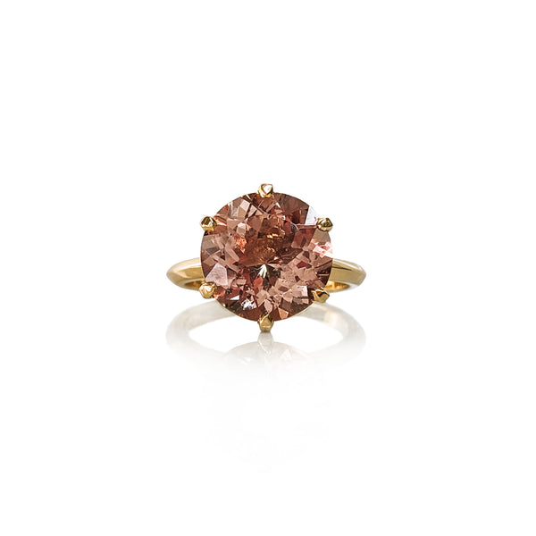 Morganite Gigi Round Brilliant Ring