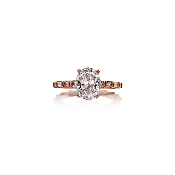 Baguette Oval Diamond Ring