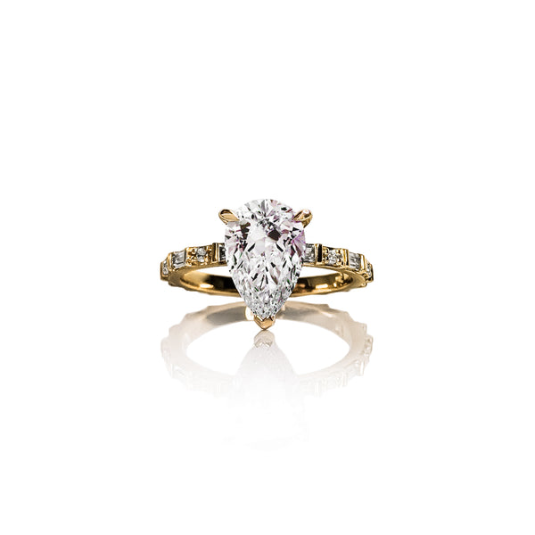 Baguette Pear Diamond Ring