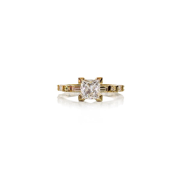 Baguette Princess Diamond Ring