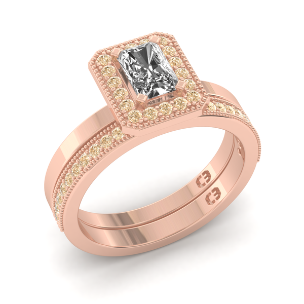 Rose Champagne Engagement Ring