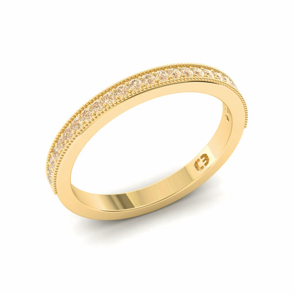 Rose Champagne Eternity Ring