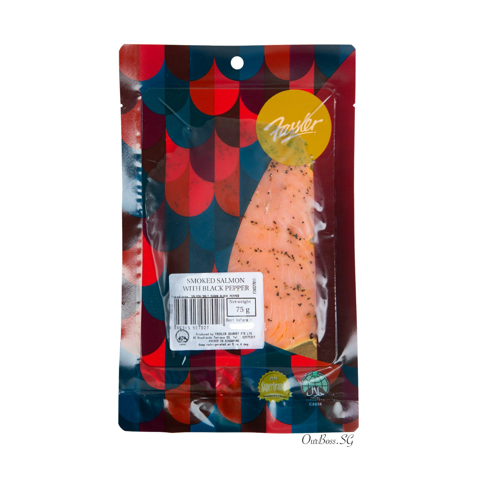 Black Pepper Smoked Salmon Presliced 75g