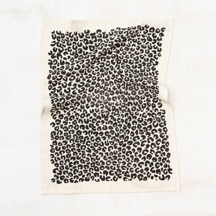 Leopard Kitchen Towel - Natural
