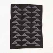 Load image into Gallery viewer, Triangles Kitchen Towel - Black
