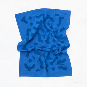 Blocks Kitchen Towel - Cobalt