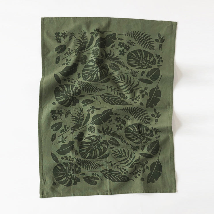 Jungle Kitchen Towel - Green