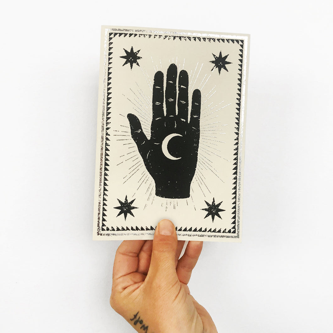 Moon Palm Card