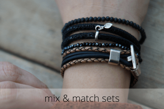 armbandensets, ook wel bekend als mix and match armbandensets, shop je bij handmade by sjiek