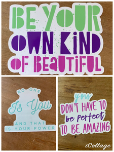 Static Cling Mirror Decals - Raising Strong Daughters - Amanda Stokes