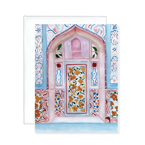 Colorful Door Greeting Card