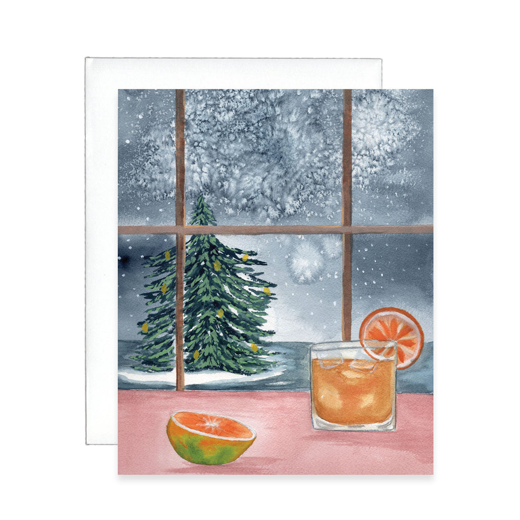 Whiskey Christmas Greeting Card