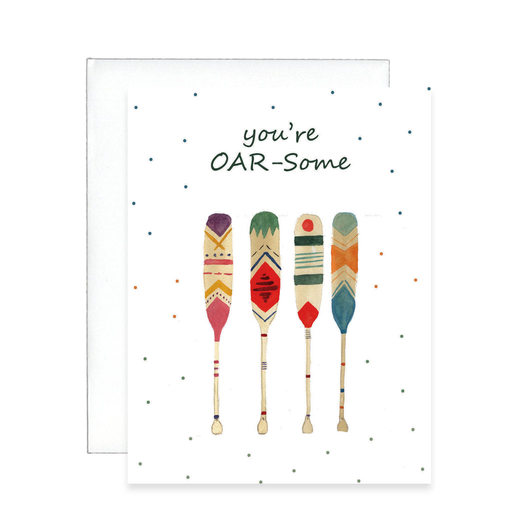 You're Oar-some greeting cards