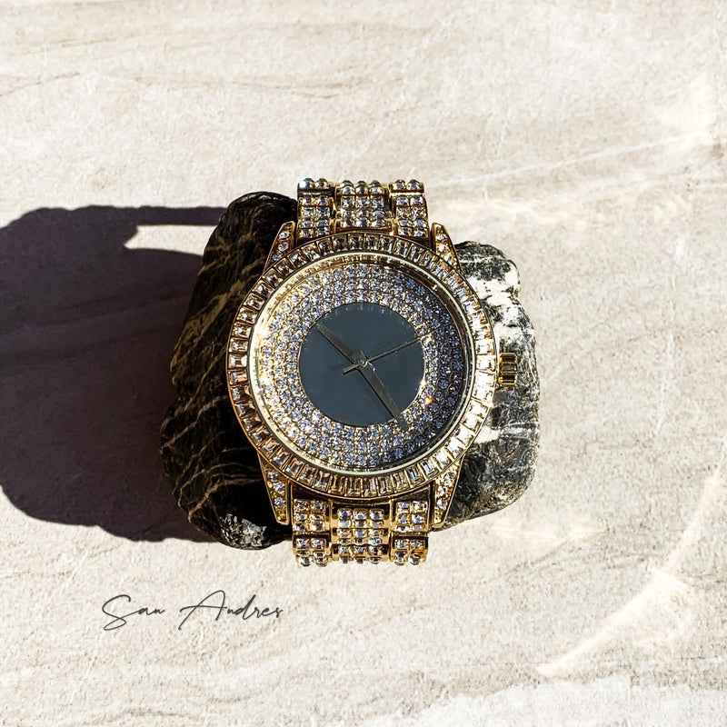 Iced Out Gold Watch - San Andrés