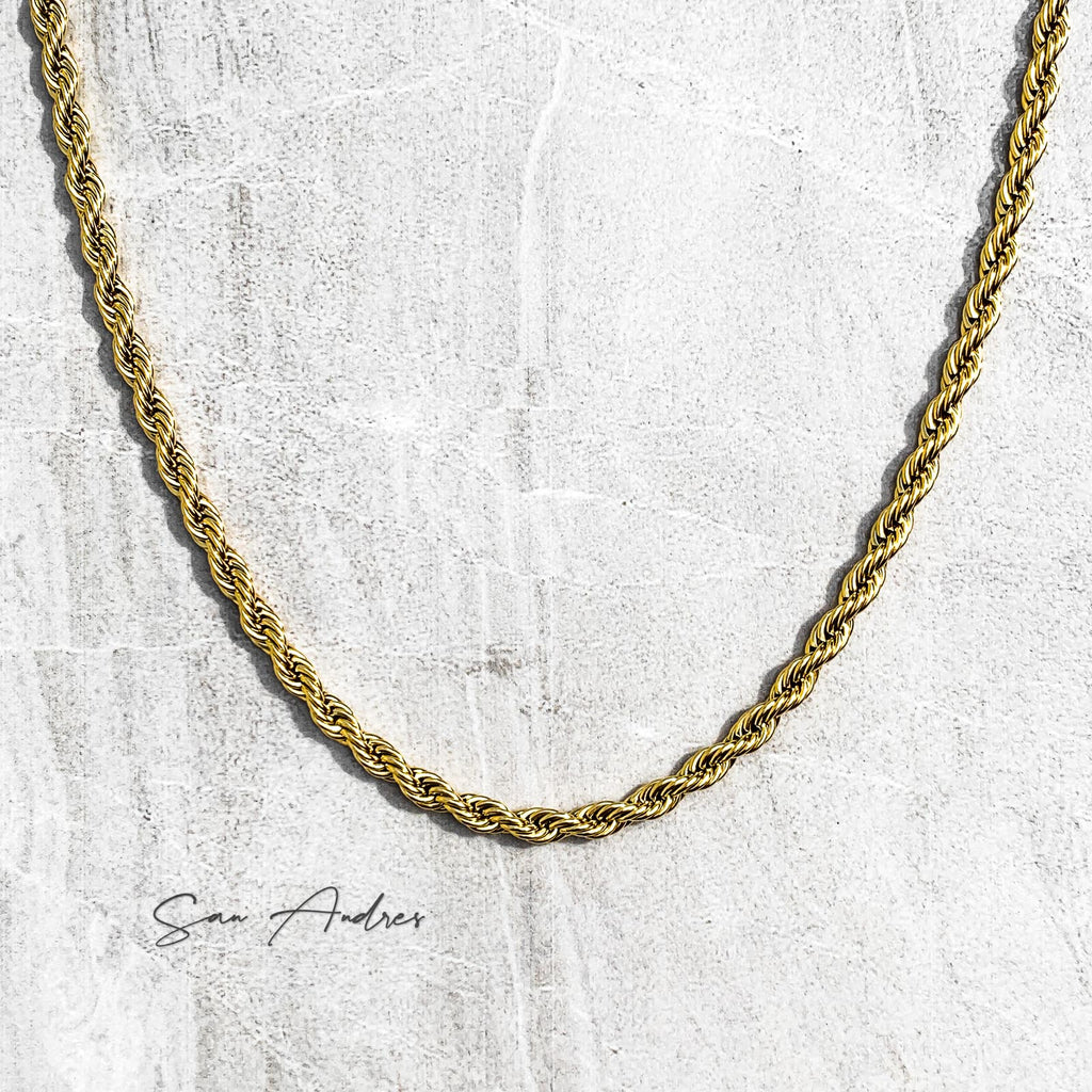 Classic Gold Rope Chain - San Andrés